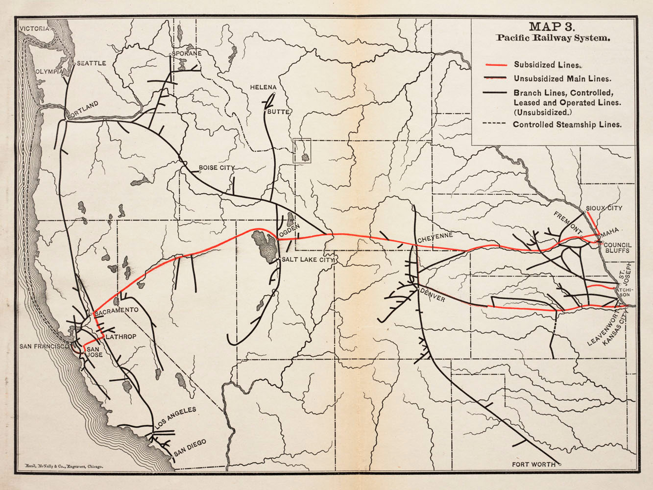 A Brief History Of The Pacific Railway The Transcontinental Railroad