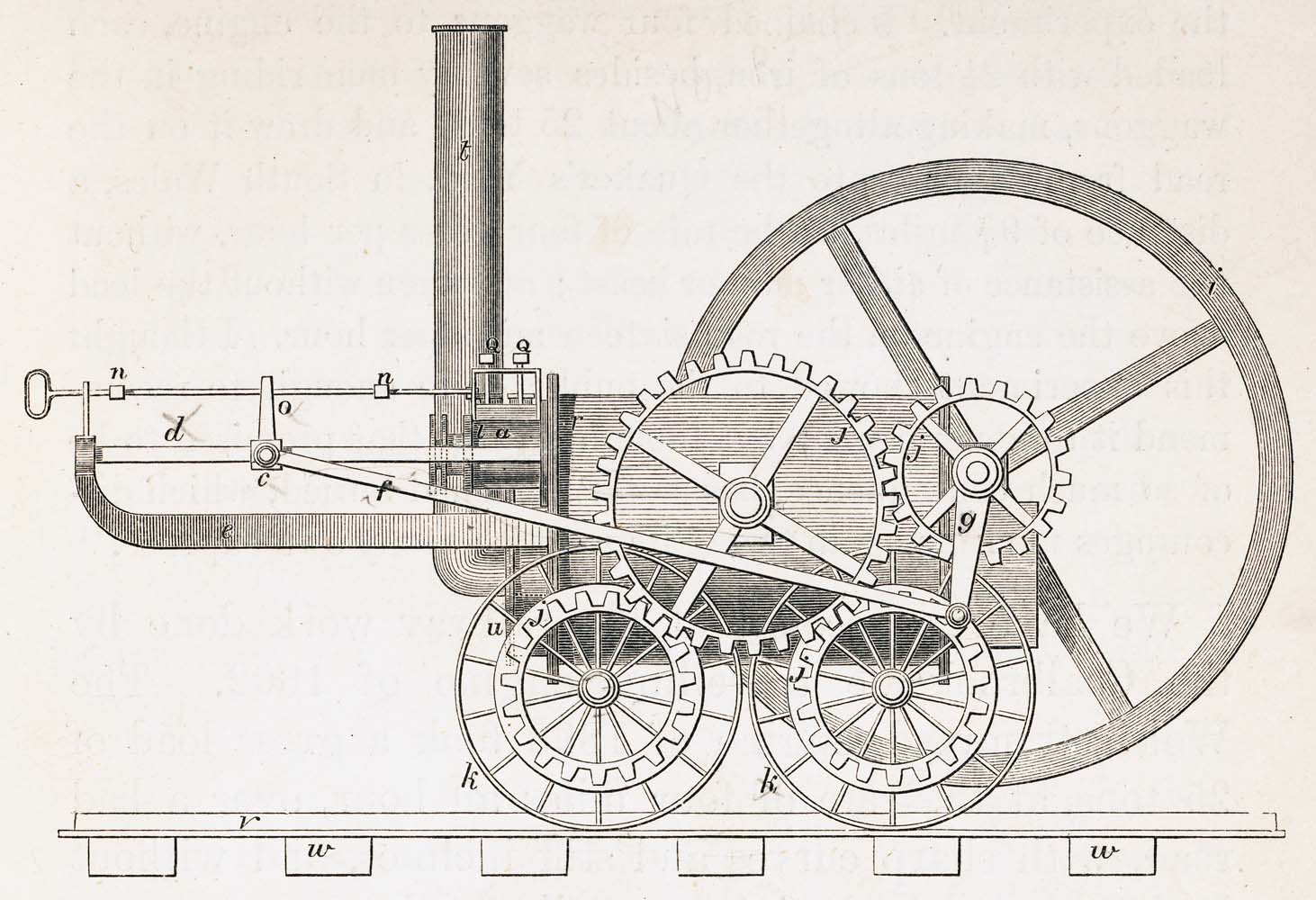 trevithick's tramroad locomotive
